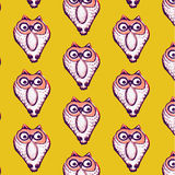 Seamless pattern background of owl Stock Photo