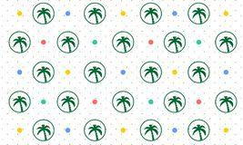 Seamless Pattern Background of Palm Tree - Vector vector illustration