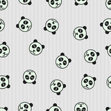 Seamless pattern background panda. Sleeping animal. Textile for baby with bear. Royalty Free Stock Images