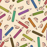 Seamless pattern background pencil.  Stock Images