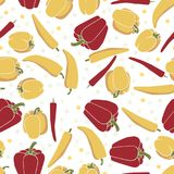 Seamless pattern background with peppers. vector illustration
