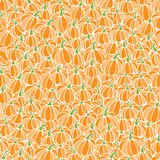 Seamless pattern background from pumpkins Stock Photography