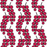 Seamless pattern background with red currants, colorful illustration royalty free illustration
