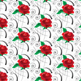 Seamless pattern. Background with red roses  for fabrics, textil Stock Photography