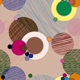 Seamless pattern background. Retro/vintage style, with circles Royalty Free Stock Photo
