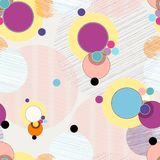 Seamless pattern background. Retro/vintage style, with circles Stock Photo