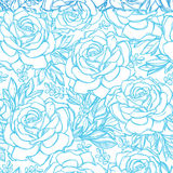 Seamless pattern background of rose  flowers. Royalty Free Stock Photos
