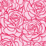 Seamless pattern background of rose  flowers. Royalty Free Stock Image