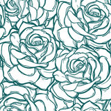 Seamless pattern background of rose  flowers. Royalty Free Stock Photo