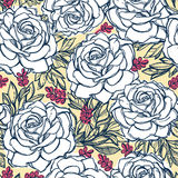 Seamless pattern background of rose  flowers. Royalty Free Stock Photography