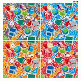 Seamless pattern background of school subjects with white stroke royalty free illustration