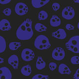 Seamless pattern background with sculls Stock Images