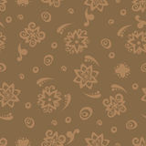 Seamless pattern background in sepia. Sepia vector card. Seamless pattern background in sepia colors. Stock Image