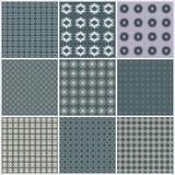 Seamless pattern background set, elegant texture Stock Photo
