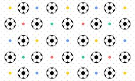 Seamless Pattern Background of Soccer Ball - Vector royalty free illustration