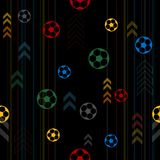 Seamless pattern background for soccer or football sport theme. For online web or printed banner background Royalty Free Stock Photos
