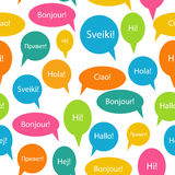 Seamless Pattern Background of Speech Bubble with Stock Images