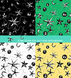 Seamless pattern background of star Royalty Free Stock Photography