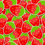 Seamless Pattern Background from Strawberry Vector Royalty Free Stock Photo