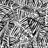 Seamless pattern background, with strokes, splashes, triangles a Stock Images