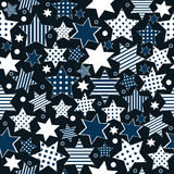 Seamless pattern background with stylized stars Royalty Free Stock Image
