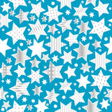 Seamless pattern background with stylized stars Stock Photography