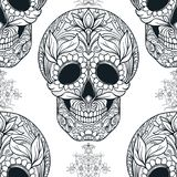 Seamless pattern, background with sugar  skull   Stock Photography