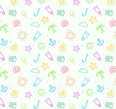 Seamless pattern background for summer Stock Images