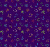 Seamless pattern background for summer Royalty Free Stock Photos