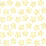 Flower Spots Geometric Seamless Pattern stock images