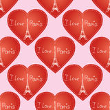 Seamless pattern  background texture. Paris France Eiffel tower Royalty Free Stock Image