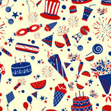 Seamless pattern background for 4th of July Independence Day  America. Seamless pattern background for 4th of July Independence Day of America in vector Royalty Free Stock Images