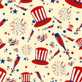 Seamless pattern background for 4th of July Independence Day  America. Seamless pattern background for 4th of July Independence Day of America in vector Stock Photos