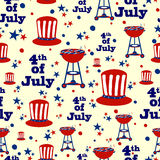 Seamless pattern background for 4th of July Independence Day America. Seamless pattern background for 4th of July Independence Day of America in vector Vector Illustration
