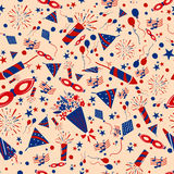 Seamless pattern background for 4th of July Independence Day  America. Seamless pattern background for 4th of July Independence Day of America in vector Royalty Free Stock Photography