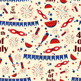 Seamless pattern background for 4th of July Independence Day  America. Seamless pattern background for 4th of July Independence Day of America in vector Stock Images