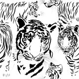 Seamless pattern background tiger skins Stock Photography