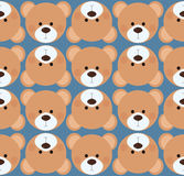 Seamless pattern background tile - cute Teddy bear. Plush heads Royalty Free Stock Images