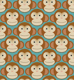 Seamless pattern background tile - monkeys new. Seamless pattern background tile - monkeys heads new year Stock Photos
