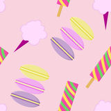 Seamless pattern background Treats for kids. Treats for kids vector. Royalty Free Stock Image