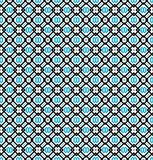 Seamless pattern or background in turquoise blue, black and white Stock Photo