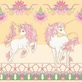 Seamless pattern, background with unicorn