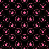 Seamless Pattern Background Vector公主例证 免版税图库摄影