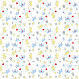 Seamless Pattern Background Vector王子例证 库存例证