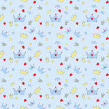 Seamless Pattern Background Vector王子例证 免版税库存照片