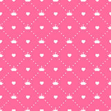 Seamless Pattern Background Vector公主 库存照片