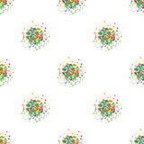 Seamless pattern background. Vector colorful bursts vertical frame seamless pattern background Royalty Free Stock Photo