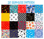 Seamless Pattern Background Vector Set Royalty Free Stock Photography