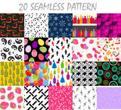 Seamless Pattern Background Vector Set Royalty Free Stock Photo