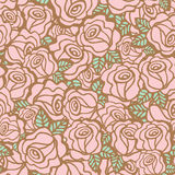 Seamless pattern background of vintage style roses flower Stock Image